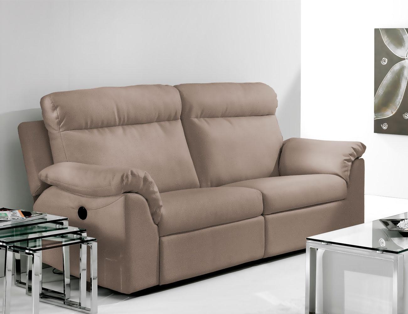 Sof de 3 plazas con dos asientos relax el ctricos en - Sofas de dos plazas ...