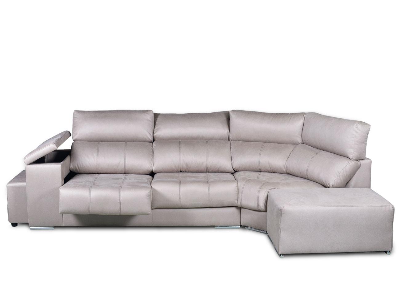 Sofa rinconera tejido anti manchas gris plata arcon taburetes puffs