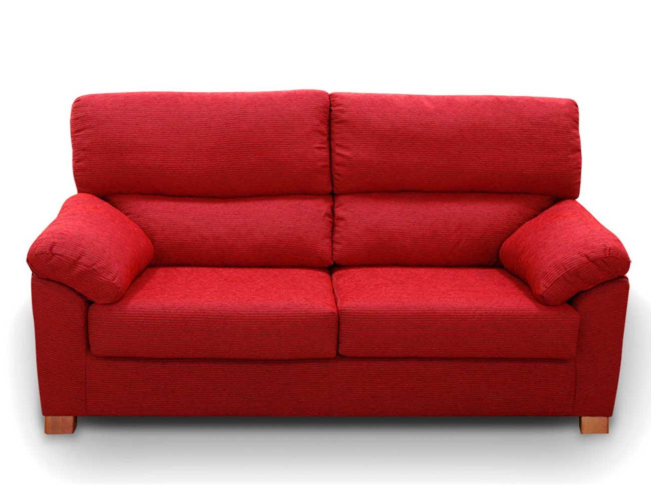 Sofa barato 3 plazas rojo1