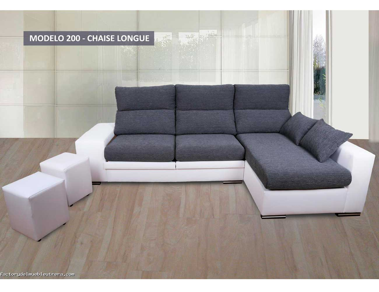 Sof chaiselongue con opci n de arc n 7164 factory del for Sofa bueno y barato