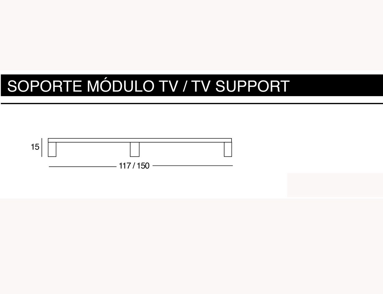 Soporte modulo tv