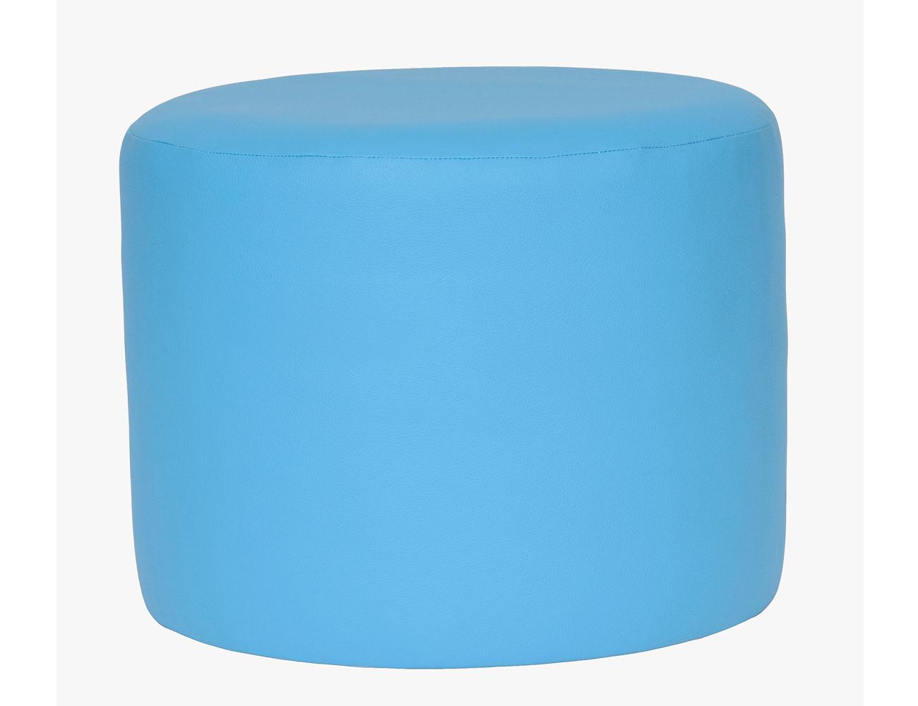 Taburete redondo azul