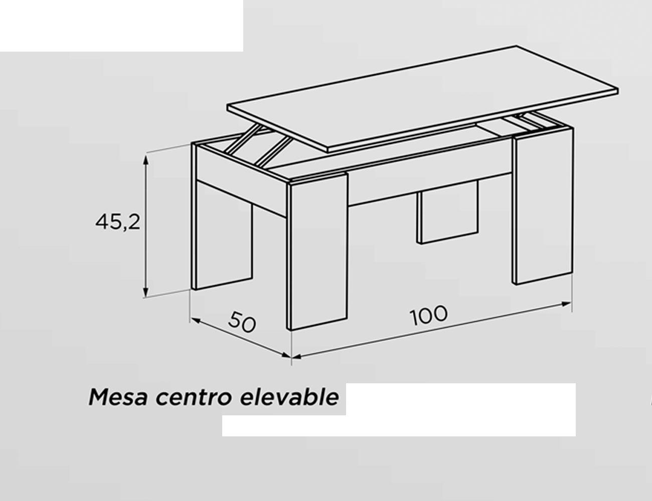 Tecnico mesa centro elevable 100