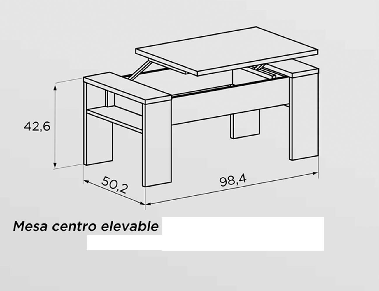 Mesa de comedor extensible 138 198 cm 19538 factory for Mesa centro elevable