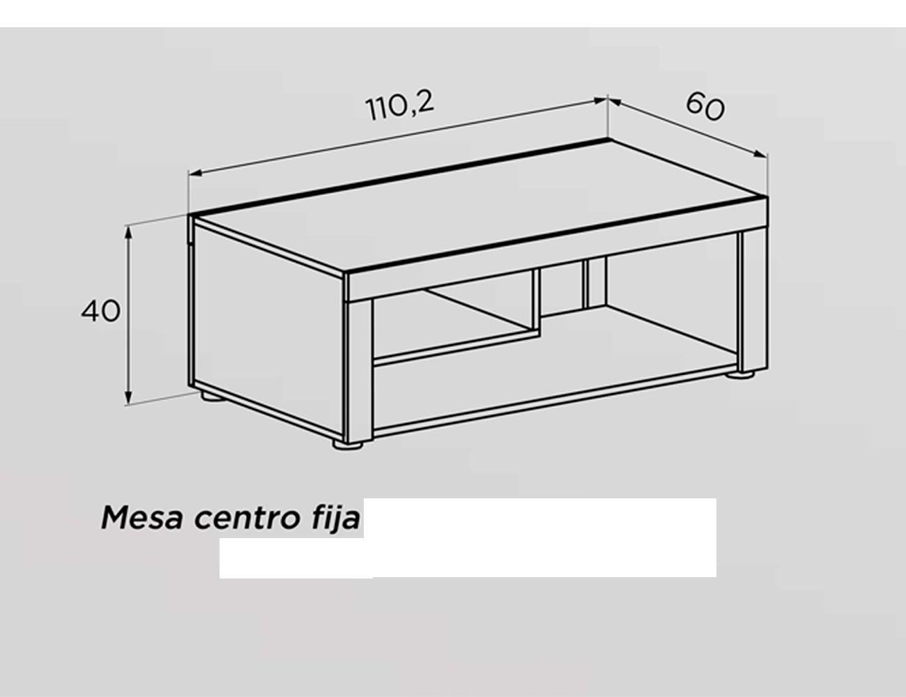 Tecnico mesa centro fija 110
