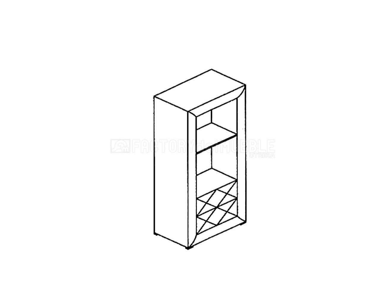 Torre estanteria 2c 04m1071