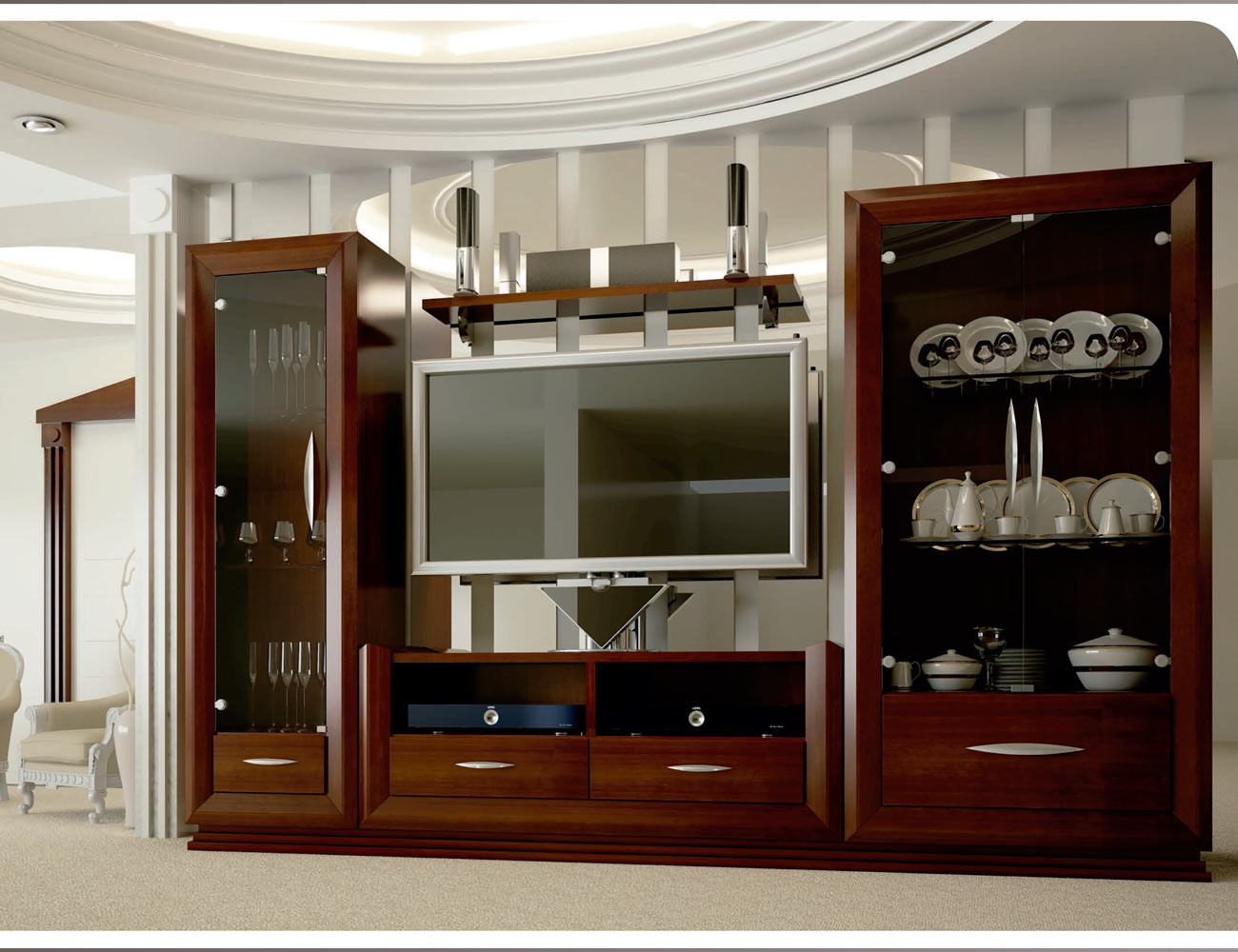 Touring 5 mueble salon comedor neoclasico color 154