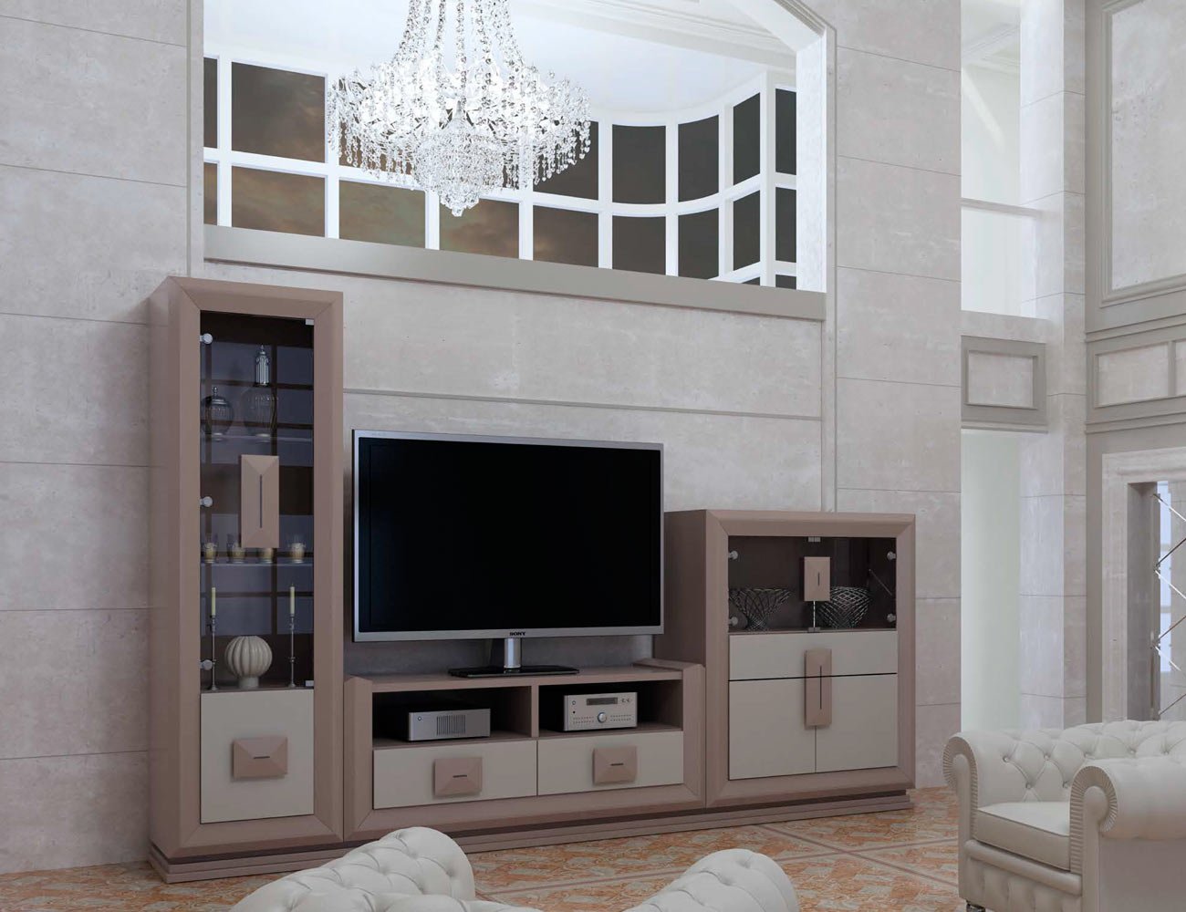 Touring 7 mueble salon comedor neoclasico color 540