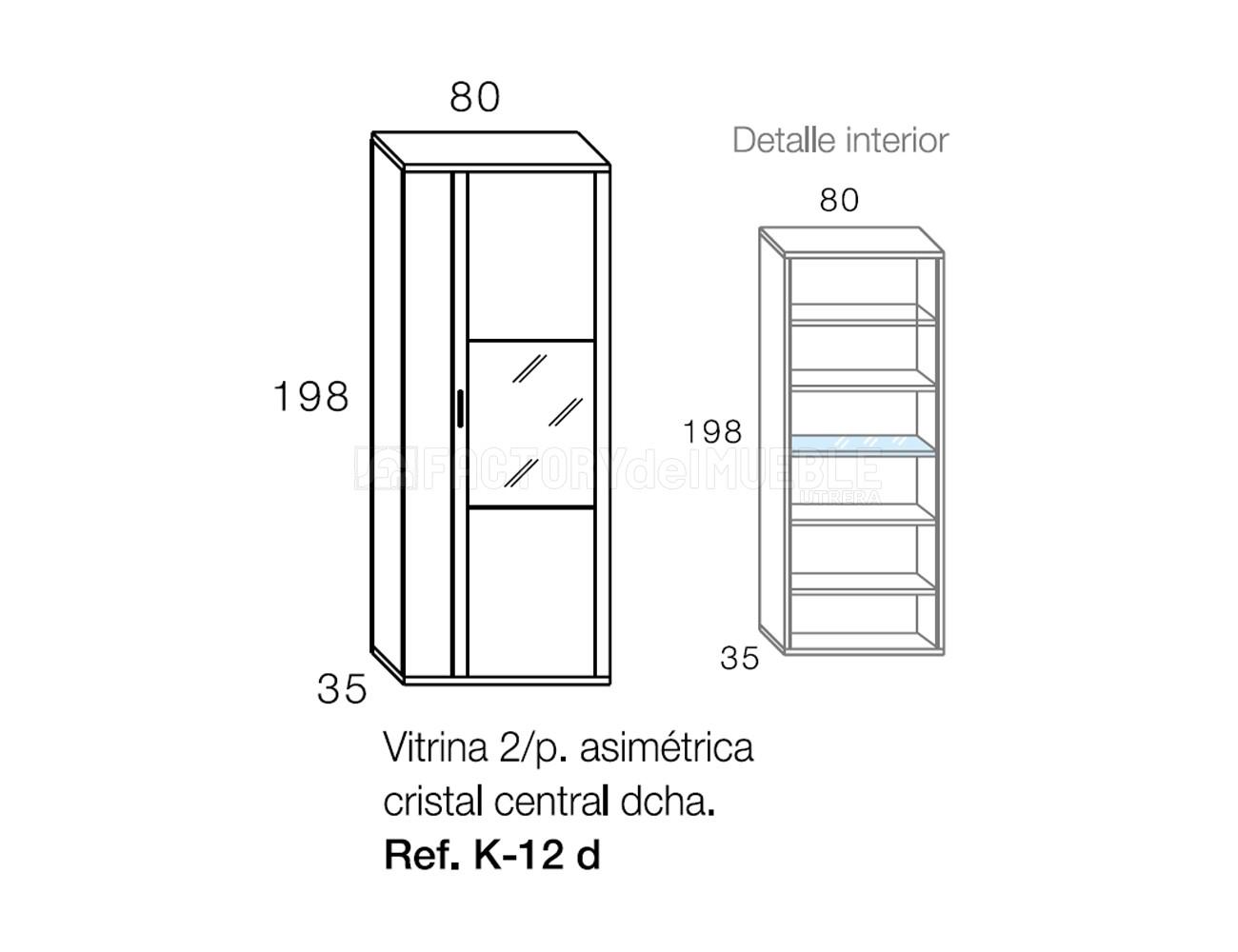 Vitrina k12d