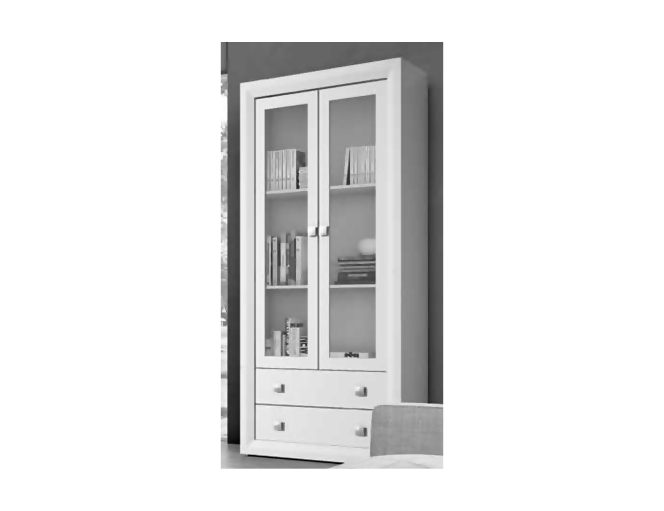 Mueble de salon comedor estilo moderno en blanco roto for Factory del mueble madrid