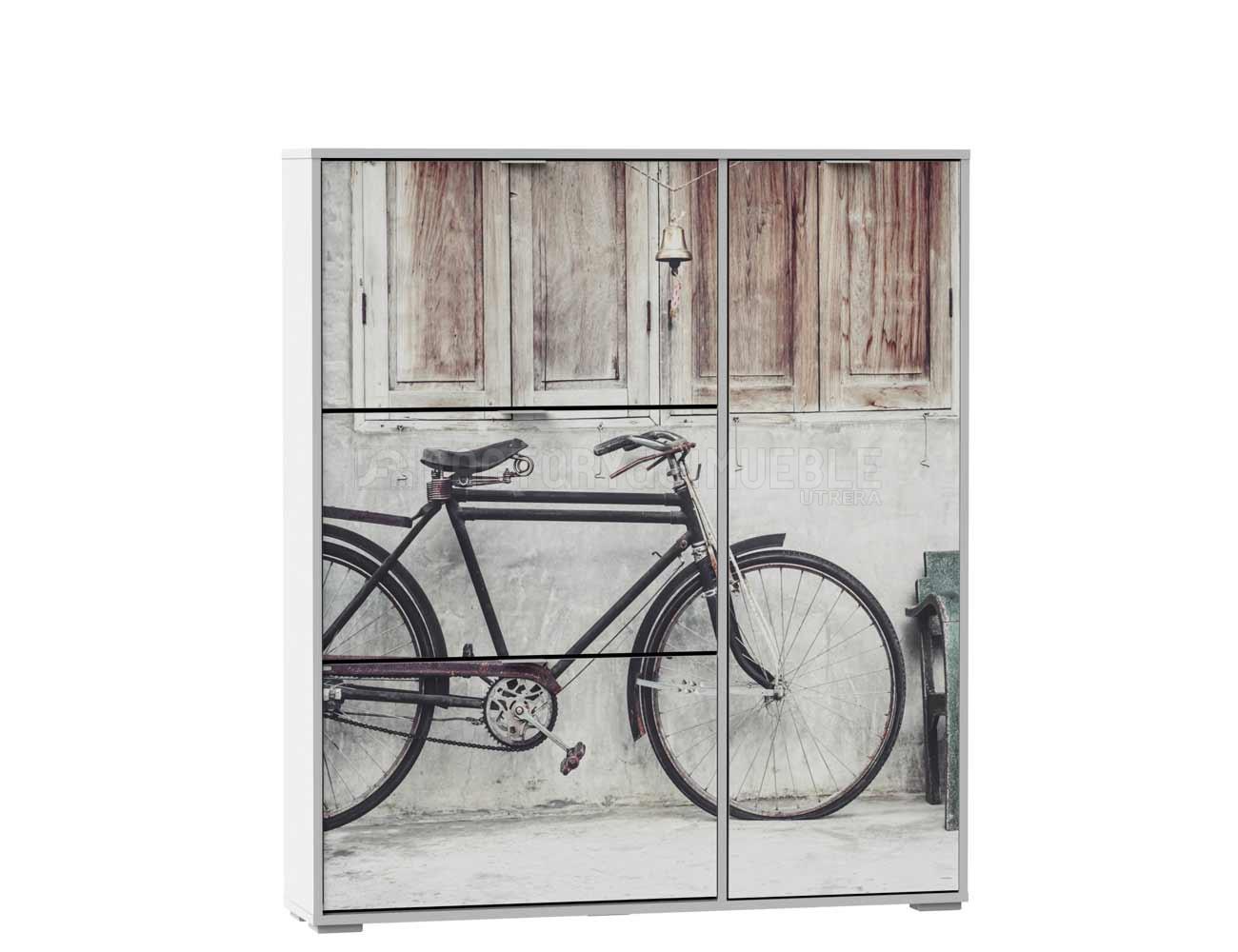Mueble Zapatero Armario Con Cuatro Puertas Bicicleta 22181  # Muebles Bicicleta