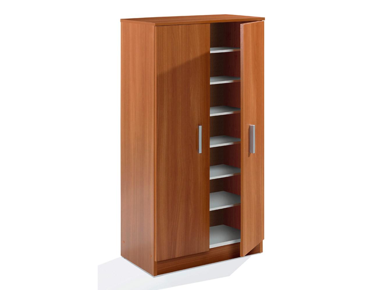 Mueble de sal n comedor modular en blanco con roble y for Zapatero dos puertas