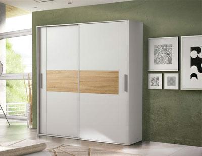 02 armario 2 puertas correderas blanco cambrian