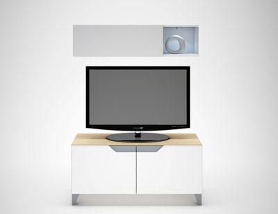 05 mesa tv 2 puertas arava blanco brillo