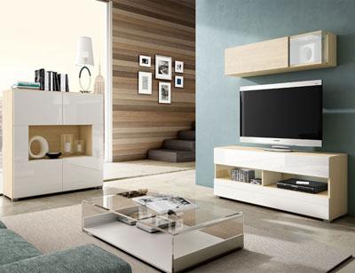 05 mueble salon comedor aparador tv arava blanco artico