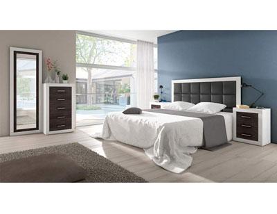 06 dormitorio matrimonio polipiel blanco grafito