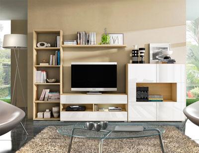 09 mueble salon comedor estanteria tv arava