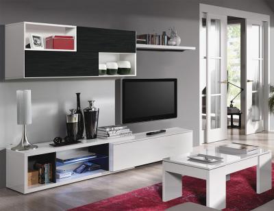 0mueble salon moderno blanco negro1
