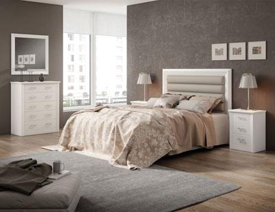 1 dormitorio matrimonio blanco lacado madera dm