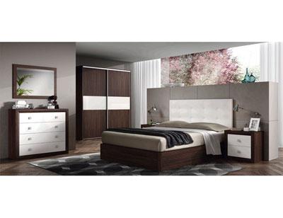 10 dormitorio matrimonio comoda wengue blanco artico