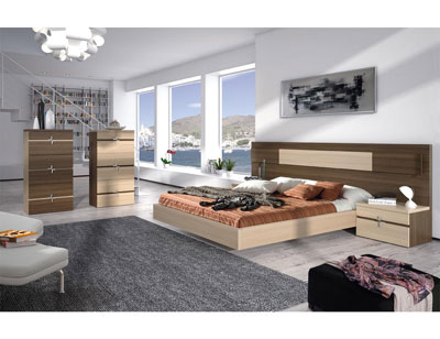 101 dormitorio matrimonio roble ahumado nordico sinfonier bañera