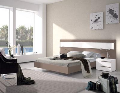 103 dormitorio matrimonio moka blanco bañera