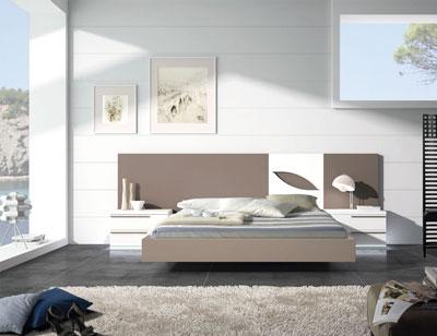 109 dormitorio matrimonio moka blanco bañera leds