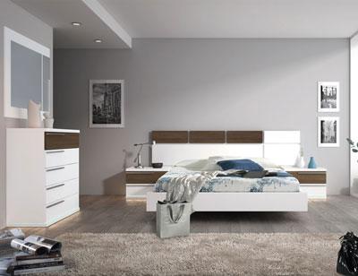 115 dormitorio matrimonio blanco roble bañera leds