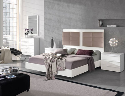 122 dormitorio matrimonio blanco tapizado moka