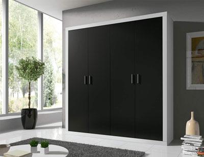 14 armario 2 puertas abatibles blanco grafito