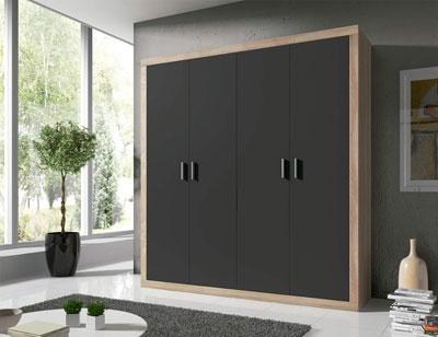 14 armario 2 puertas abatibles cambrian grafito