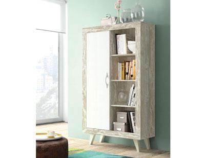 147 modulo 1 puerta estantes vintage soul blanco