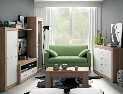 155 mueble salon comedor vitrina bodeguero aparador  mesa centro cambrian soul blanco