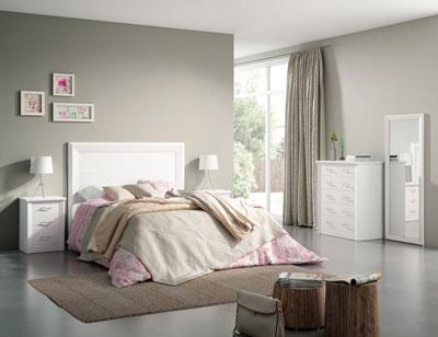 2 dormitorio matrimonio blanco lacado madera dm