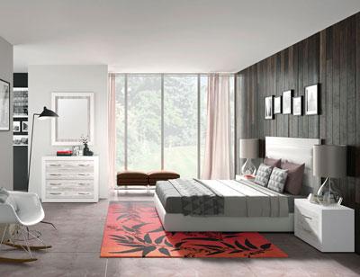 265 dormitorio matrimnonio cabecero tapizado artic soul blanco