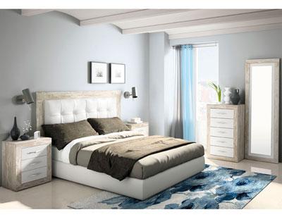 266 dormitorio matrimnonio cabecero tapizado artic soul blanco 2