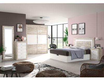 267 dormitorio matrimonio vintage soul blanco