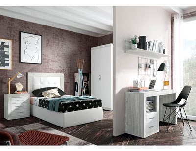 270 dormitorio matrimonio artic soul tapizado blanco
