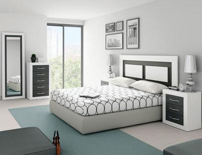 298 dormitorio matrimonio soul blanco grafito