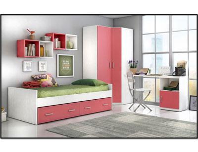 3 dormitorio juvenil cama nido