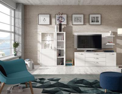 416 mueble salon comedor estanteria vitrina bodeguero tv