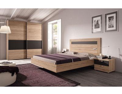 462 dormitorio matrimonio  roble antracita armario