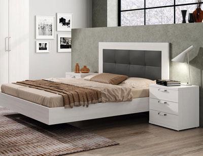 469 dormitorio matrimonio cabecero tapizado antracita color polar