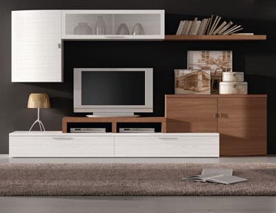 703 muebles salon comedor moderno albian nogal