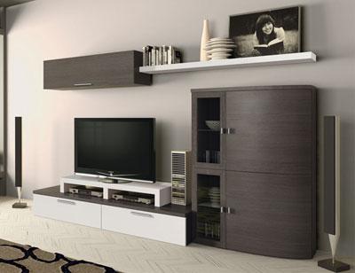 720 mueble salon comedor ceniza blanco