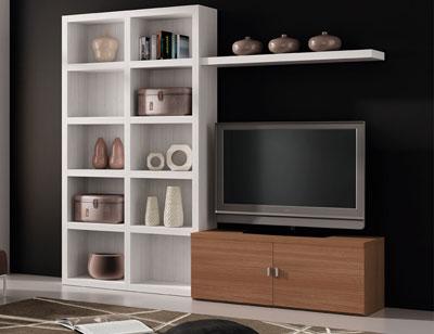 728 mueble salon comedor albian nogal