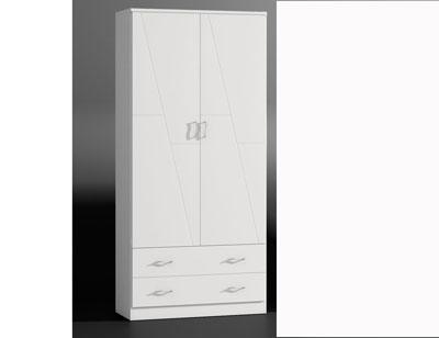 80005 armario 2p blanco lacado madera dm1