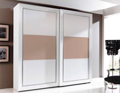 Armario 2p correderas 240x230x63 blanco plafon central vison2
