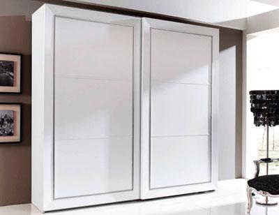 Armario 2p correderas 240x230x63 blanco plata