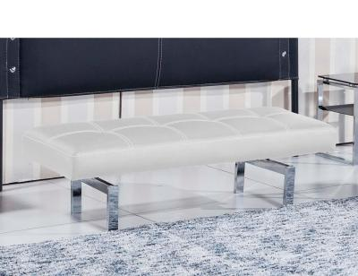 Banco tapizado  blanco bench